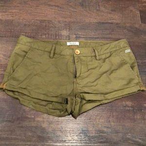 Army Green Roxy Shorts